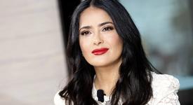 Салма Хайек медитира с бухала си