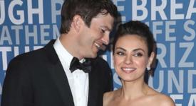 Мила Кунис и Ащън Къчър дебютираха на червения килим като двойка