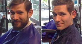 10 мъже преди и след бръснене