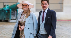 Принцеса Беатрис - с тиара и рокля от Кралицата на сватбения си ден