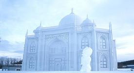 Тадж Махал е направен от лед?