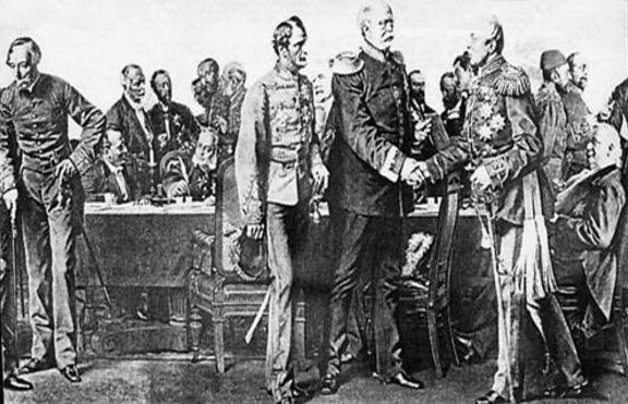На 13 юли 1878 година е подписан Берлинският мирен договор