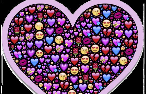 Какво издава цветът на емотиконата сърце?
