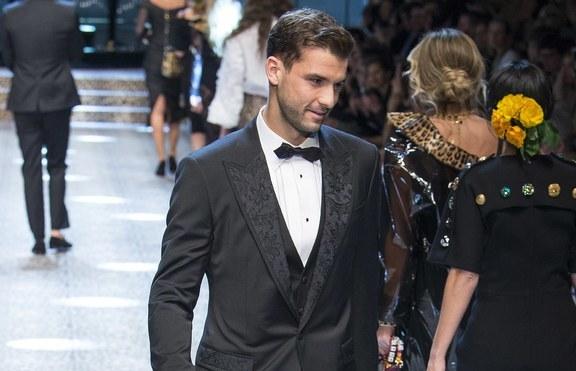Григор Димитров дефилира за Dolce & Gabbana