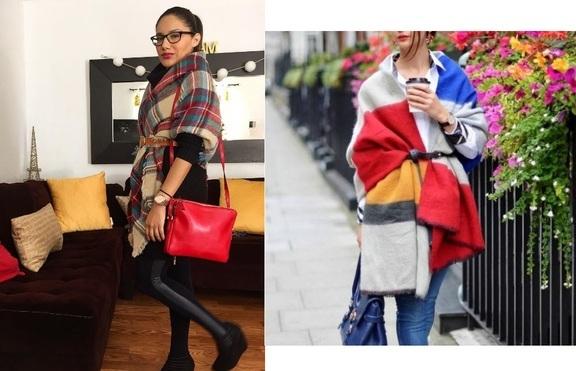 4 начина да носим голям шал стилно