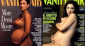 Голи и бременни знаменитости на корици