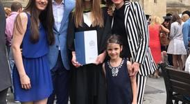 Цветан Цветанов на дипломирането на дъщеря си