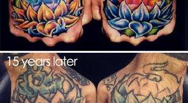Как избледняват татуировките с времето?
