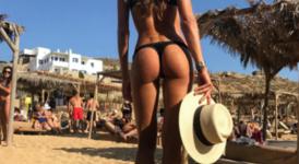 Секси почивката на Изабел Гулар на Миконос