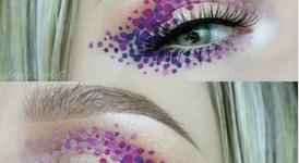 Грим с многоцветни точки